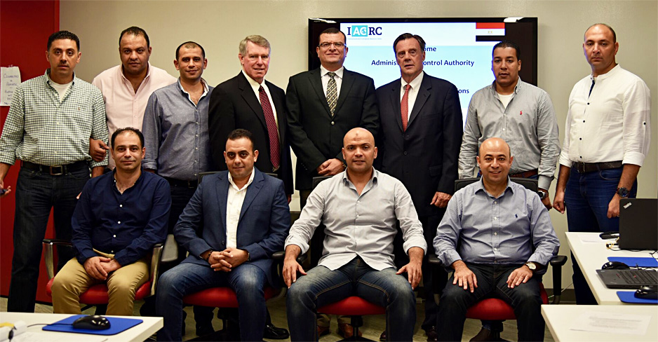 Members of Egypt's Administrative Control Authority attend Anti-Corruption Investigations and Audit Training